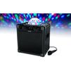 ION Audio Party Rocker Plus - Колонка для телефона и планшетаПортативная акустика<br>Портативная колонка, светодиодный стробоскоп, 6 режимов светомузыки, принимает Bluetooth сигнал от смартфонов и планшетов, пиковая мощность 50 Вт, микрофон в комплекте.<br>
