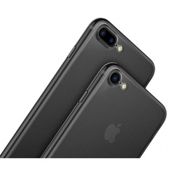Чехол накладка для Apple iPhone 7 Plus (Baseus Wing Case WIAPIPH7P-E01) (Transparent black)