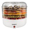 Scarlett SC-FD421005 - Сушилка для овощей, фруктов, грибовЭлектросушилки для овощей, фруктов, грибов<br>Мощность 125 Ватт, предназначена для сушки овощей, фруктов, грибов, трав и ягод в домашних условиях, может использоватьcя для приготовления пастилы и вяленого мяса, 5 прозрачных поддонов, максимальная загрузка каждого поддона до 1 кг.<br>