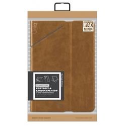 Чехол книжка для Apple iPad Mini 4 (Uniq Heritage Transforma PDM4GAR-TRHERCML) (коричневый)