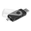 Ginzzu GR-588UB (черный) - Картридер, Card ReaderКартридеры (Card Reader)<br>Универсальный USB 3.0/Type C OTG картридер.<br>