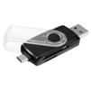 Ginzzu GR-589UB (черный) - Картридер, Card ReaderКартридеры (Card Reader)<br>Универсальный USB 3.0/micro USB OTG картридер.<br>