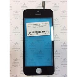 Стекло экрана для Apple iPhone 5S с рамкой (102702) (черный)