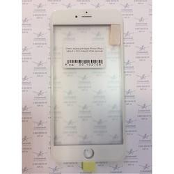 Стекло экрана для Apple iPhone 6 Plus с рамкой и ОСА пленкой (102708) (белый) (1 категория Q)