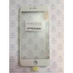Стекло экрана для Apple iPhone 6S Plus с рамкой и ОСА пленкой (102711) (белый) (1 категория Q)