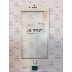 Стекло экрана для Apple iPhone 7 с рамкой и ОСА пленкой (102713) (белый) (1 категория Q)