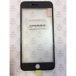 Стекло экрана для Apple iPhone 7 Plus с рамкой и ОСА пленкой (102714) (черный) (1 категория Q)