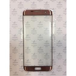 Стекло экрана для Samsung Galaxy S7 Edge G935 (102732) (розовый) (1 категория Q)
