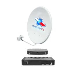 """Комплект спутникового телевидения Триколор """"Европа"""" GS E501 + GS C5911 (на 2 ТВ) (черный)"""