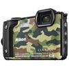 Nikon Coolpix W300 (камуфляж) - Фотоаппарат цифровойЦифровые фотоаппараты<br>Компактная фотокамера, матрица 16.76 МП (1/2.3), съемка видео 4K, оптический зум 5x, экран 3, Wi-Fi, Bluetooth, GPS, влагозащищенный корпус, вес с элементами питания 231 г, режим макросъемки.<br>