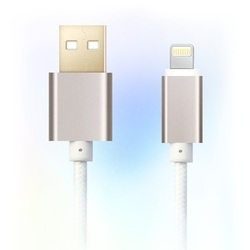 Кабель USB-Lightning для Apple iPhone 5, 5C, 5S, SE, 6, 6 plus, 6S, 6S Plus, 7, 7 Plus, iPad 4, Air, Air 2, Pro 9.7, Pro 12.9, PRO, mini 1, mini 2, mini 3, mini 4 (Ginnzu GC-555UW) (белый)