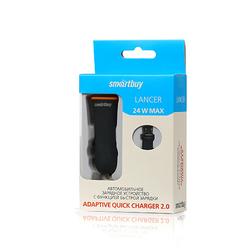 Автомобильное зарядное устройство Quick Charge 2.0, 2.1A (SmartBuy LANCER) (черный, оранжевый)