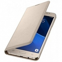 Чехол-книжка для Samsung Galaxy J5 2017 (Celly Air Case AIR665GDCP) (золотистый)
