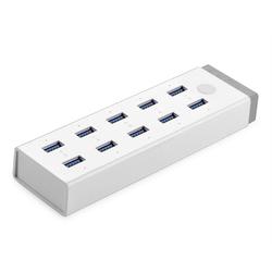 Сетевое зарядное устройство 10xUSB + USB HUB (Greenconnect UG-20297)