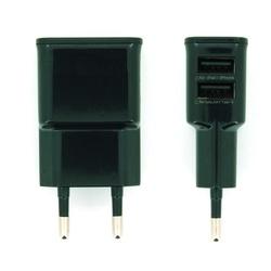 Универсальное сетевое зарядное устройство, адаптер 2хUSB, 2.1А (М0943815) (черный)