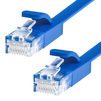 Патч-корд UTP кат. 6, RJ45 0.3м (Greenconnect GCR-LNC621-0.3m) (синий) - КабельСетевые аксессуары<br>Greenconnect GCR-LNC621 - патч-корд, плоский, прямой, длина 0.3м, UTP, медь, кат.6, позолоченные контакты, 30 AWG, 10 Гбит/с, RJ45, T568B.<br>