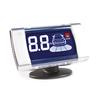 Датчик парковки Park Master 27-4-A-White - ПарктроникПарктроники<br>LCD-индикатор с универсальным креплением (ножка), графическая и цифровая индикация, звуковое и голосовое оповещение, шаг измерения расстояния 0.1м, по умолчанию комплектуется 4 датчиками типа A, возможность замены на датчики AX для крепления с внутренней стороны бампера.<br>