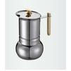 GAT Amore (6 чашек) (121006) - Кофеварка, кофемашинаКофеварки и кофемашины<br>Гейзерная крфеварка, емкость резервуара для воды: на 6 чашек, объем: 300 мл, материал корпуса: нержавеющая сталь.<br>