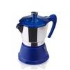 Кофеварка гейзерная GAT Fantasia (6 чашек) (синий) - Турка, кофеварка, кофемолкаТурки, кофеварки, кофемолки<br>GAT Fantasia - кофеварка гейзерная, на 6 чашек, из пищевого алюминия, нижняя часть и крышка имеет цветное покрытие, для всех видов варочных панелей, в том числе индукционных.<br>