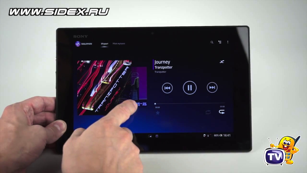 Видеообзор Sony Xperia Tablet Z 32Gb (белый) :