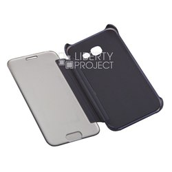 Чехол книжка для Samsung Galaxy A3 2017 (0L-00031715) (синий) - Чехол для телефонаЧехлы для мобильных телефонов<br>Чехол книжка плотно облегает корпус телефона и гарантирует его надежную защиту от царапин и потертостей.