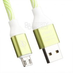 Кабель microUSB - USB (0L-00033139) (зеленый, белый) - КабелиUSB-, HDMI-кабели, переходники<br>Кабель позволяет подключать устройства, которые имеют разъем microUSB к USB разъему компьютера.