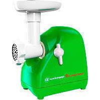 Белвар Помощница КЭМ-П2У 302-09 (зеленый) - МясорубкаМясорубки<br>Мясорубка, мощность 1500 Вт, насадка для шинковки, насадка для приготовления колбас, корпус из пластика, отсек для хранения насадок.
