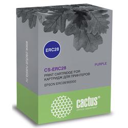 Картридж для Epson ERC28, M2000 (Cactus CS-ERC28) (фиолетовый) - Картридж для принтера, МФУКартриджи<br>Совместим с моделями: Epson ERC28, M2000.