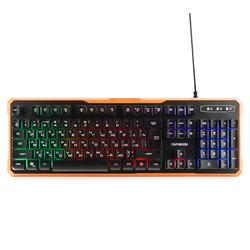 Гарнизон GK-320G (черный) - АксессуарКлавиатуры, мыши, комплекты<br>Гарнизон GK-320G - игровая проводная клавиатура, подсветка quot;Rainbowquot;, металлический корпус, 6 клавиш с защитой от фантомных нажатий, 12 дополнительных функций для управления мультимедиа и открытия приложений.