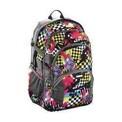 Рюкзак Coocazoo JobJobber2 Checkered Bolts (серый, красный) - Ранец, рюкзак, сумка, папкаРюкзаки и ранцы для школы<br>Рюкзак, 2 предмета, пенал  в комплекте, светоотражающие материалы, ручка для переноски, для мальчиков и девочек, объем - 30 л, внешние размеры - 30x45x20 см.