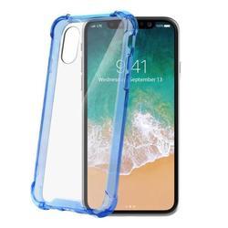 Чехол-накладка для Apple iPhone X (Celly Armor ARMOR900LB) (голубой) - Чехол для телефонаЧехлы для мобильных телефонов<br>Чехол плотно облегает корпус и гарантирует надежную защиту от царапин и потертостей.
