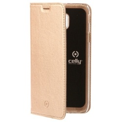Чехол-книжка для Samsung Galaxy J3 2017 (Celly Air Case AIR663GDCP) (золотистый)