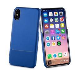 Чехол-накладка для Apple iPhone X (Muvit Skin MUBKC0958) (синий) - Чехол для телефонаЧехлы для мобильных телефонов<br>Чехол плотно облегает корпус и гарантирует надежную защиту от царапин и потертостей.