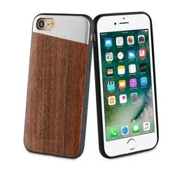Чехол-накладка для Apple iPhone 7, 8 (So Seven SVNCSMWSIP7) (темное дерево) - Чехол для телефонаЧехлы для мобильных телефонов<br>Чехол плотно облегает корпус и гарантирует надежную защиту от царапин и потертостей.