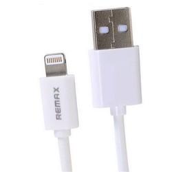 Дата кабель Lightning - USB для Apple iPhone 5, 5C, 5S, SE, 6, 6 plus, 6S, 6S Plus, 7, 7 Plus, iPad 4, Air, Air 2, Pro 9.7, Pro 12.9, Pro 10.5, mini 1, mini 2, mini 3, mini 4 (Remax RC-06i) (белый) - КабелиUSB-, HDMI-кабели, переходники<br>Предназначен для передачи данных между компьютером и мобильными устройствами с разъёмом 8 pin.