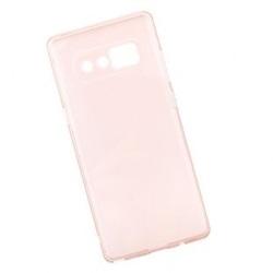 Чехол накладка для Samsung Note 8 (0L-00034399) (розовый, прозрачный) - Чехол для телефонаЧехлы для мобильных телефонов<br>Плотно облегает корпус и гарантирует надежную защиту от царапин и потертостей.