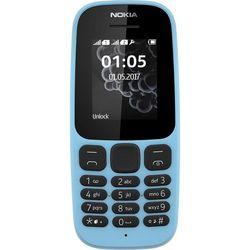 Nokia 105 (2017) (синий) ::: - Мобильный телефонМобильные телефоны<br>GSM, вес 73 г, ШхВхТ 49.5x112x14.4 мм, экран 1.8quot;, 160x120, FM-радио, память 4 Мб, аккумулятор 800 мАч.