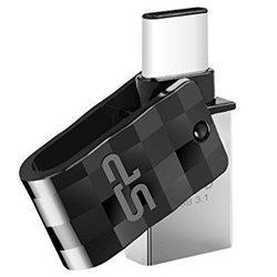 Silicon Power C31 16Gb (SP016GBUC3C31V1K) (серебристый, черный) - USB Flash driveUSB Flash drive<br>Флэш-накопитель 16 ГБ, интерфейс USB 3.1/USB Type-C, водонепроницаемый корпус.