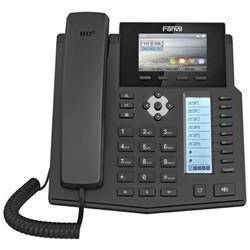 Fanvil X5S (черный) - IP телефонVoIP-оборудование<br>Телефон бизнес-класса с дополнительным жидкокристаллическим дисплеем и программируемыми клавишами для отображения статусов абонентов и быстрого набора.