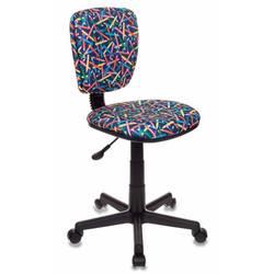 Кресло детское Бюрократ CH-204NX, PENCIL-BL (синий, карандаши) - Стул офисный, компьютерныйКомпьютерные кресла<br>Кресло детское, регулировка высоты (газлифт), регулировка глубины сиденья, ограничение по весу 100 кг, тип установки на колесиках, спинка отдельная от сиденья.