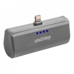 Внешний аккумулятор для Apple iPhone 5, 5C, 5S, SE, 6, 6 plus, 6S, 6S Plus, 7, 7 Plus, 8, 8 Plus, iPad 4, Air, Air 2, Pro 9.7, Pro 12.9, PRO, mini 1, mini 2, mini 3, mini 4 (SmartBuy TURBO-8 SBPB-120) (серый) - Внешний аккумулятор