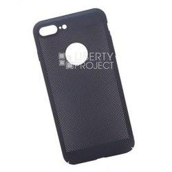 Чехол-накладка для Apple iPhone 7 Plus, 8 Plus (0L-00034050) (темно-синий) - Чехол для телефонаЧехлы для мобильных телефонов<br>Чехол плотно облегает корпус телефона и гарантирует его надежную защиту от царапин и потертостей.