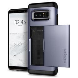Чехол-накладка для Samsung Galaxy Note 8 (Spigen Slim Armor CS 587CS22073) (серая орхидея) - Чехол для телефонаЧехлы для мобильных телефонов<br>Удобный и компактный чехол, обеспечит защиту от негативных внешних воздействий.