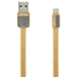 Кабель USB-Lightning 1м (REMAX Platinum Series Cable RC-044i) (золотистый) - Кабели (Remax) Волжск компьютерные аксессуары