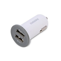 Универсальное автомобильное зарядное устройство, адаптер 2хUSB 2.1А (REMAX Mini Car Charger RCC201 mini) (белый)  - Автомобильный адаптерАвтомобильные адаптеры 12v - USB<br>Автомобильное зарядное устройство идеально подходит для зарядки гаджетов. Работает от прикуривателя автомобиля. Защита от короткого замыкания и перегрузок.