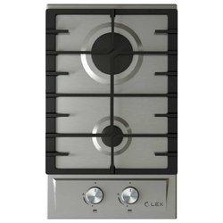LEX GVS 321 IX - Варочная поверхностьВарочные панели<br>LEX GVS 321 IX - , quot;Доминоquot;, нержавеющая сталь, 30х52 см, 2 конфорки, серебристый