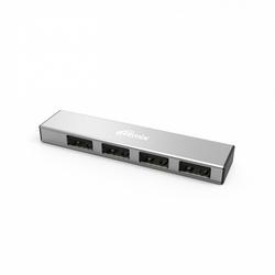 USB HUB 4 порта (Ritmix CR-2407) (серебристый) - USB HUBUSB-концентраторы<br>Ritmix CR-2406 - USB-концентратор на 4 порта, USB 2.0 Full High Speed, 480 Мбит/c.