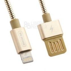 Кабель USB-Lightning 1м (WK Alloy WDC-039) (золотистый) - КабелиUSB-, HDMI-кабели, переходники<br>Кабель для синхронизации и зарядки устройства, разъемы: USB-Lightning. Изготовлен из высококачественных материалов. Длина кабеля 1 м.