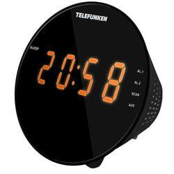 Telefunken TF-1572 (черный) - РадиоприемникРадиоприемники<br>Кварцевый стабилизатор, светодиодный дисплей с высотой символов 1.2quot; (3 см), AM/FM-тюнер, 2 режима работы будильника (радио/сигнал), повторный сигнал будильника, таймер автоматического выключения радио, выходная мощность: 0.65 Вт, линейный вход.