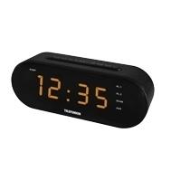 Telefunken TF-1573 (черный) - РадиоприемникРадиоприемники<br>Кварцевый стабилизатор, светодиодный дисплей с высотой символов 1.2quot; (3 см), AM/FM-тюнер, 2 режима работы будильника (радио/сигнал), повторный сигнал будильника, таймер автоматического выключения радио, выходная мощность: 1 Вт, линейный вход.